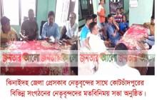 ঝিনাইদহ জেলা প্রেসক্লাব নেতৃবৃন্দের সাথে কোটচাঁদপুরের বিভিন্ন সংগঠনের মতবিনিময় সভা