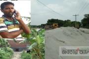 কুমারখালীতে বাপাউবো'র ড্রেনেজ খাল দখল করে চলছে অবৈধ স্থাপনা নির্মান