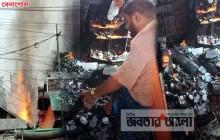 বেনাপোল বাজারে ভয়াবহ আগুনে ১০টি দোকান পুড়ে ছাই