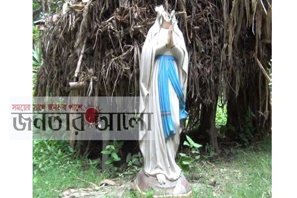 নাটোরে গীর্জার মেরী মূর্তি ভাংচুর
