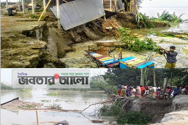 সিরাজগঞ্জে ভাঙছে নদী, ভাঙছে জনপদ, ভাঙছে হাজারও মানুষের স্বপ্ন