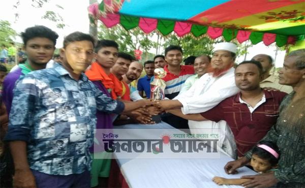 রাজবাড়ীতে মাদক বিরোধী মিনি ফুটবল টুনামেন্টের ফাইনাল অনুষ্ঠিত