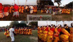 নওগাঁর মান্দায় আদিবাসী সম্প্রদায়ের ঐতিহ্যবাহী কারাম উৎসব পালিত